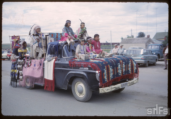 Shaunavon Jubilee - Assiniboine Indian Dancers from Harlem, Montana.  Shaunavon.  07/18/1963