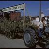 Shaunavon Jubilee - R.M. of grassy Creek float - Henry & Ed Kronberg.  Shaunavon.  07/17/1963