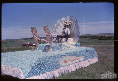 Aneroid's Jubilee parade - Co-op float. Aneroid. 07/06/1963