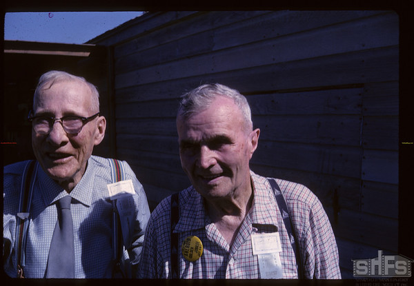 Boer War vets - Charles Smith and Ernest Boyce. Aneroid. 07/06/1963