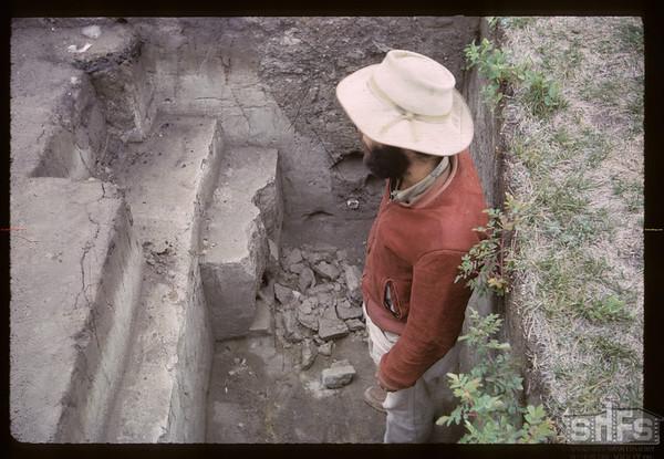 Tony Ranere archeologist. Fort Carleton. 09/12/1965