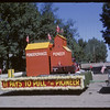 Rodeo Parade - Pioneer Elevator float.  Shaunavon.  07/20/1964
