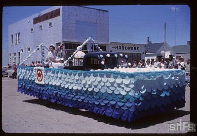 Aneroid's Jubilee parade - Hospital Aid float. Aneroid. 07/06/1963