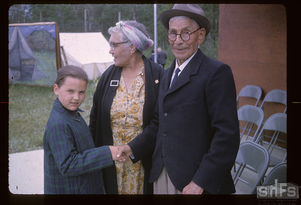 Solomon Pritchard and Mary Amirault. Frenchman Butte. 06/29/1965