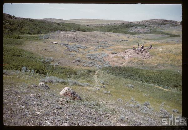 Bakken - Wright archaeological site south of White Mud river. Bracken. 07/17/1960