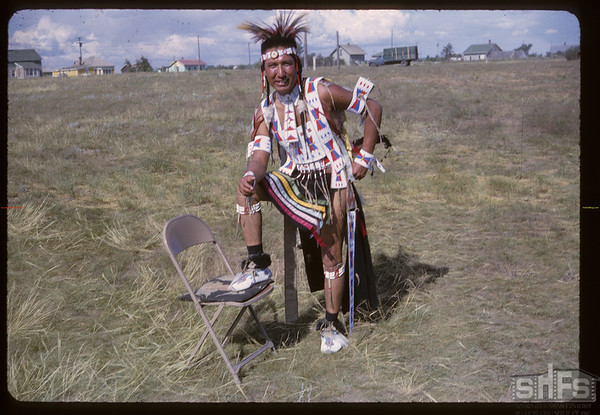 Shaunavon Jubilee - Harris Rock in Native costume.	 Shaunavon. 07/18/1963