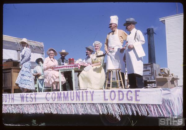Rodeo Parade - SW Community Lodge.  Shaunavon.  07/20/1964