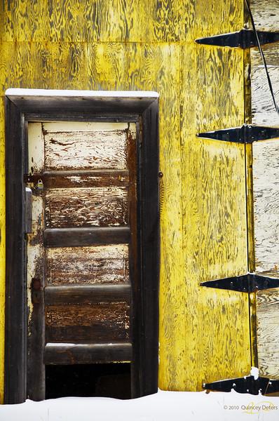 "Day Thirty-Five<br /> <br /> ""Drafty Door""<br /> <br /> Nordegg, Alberta"