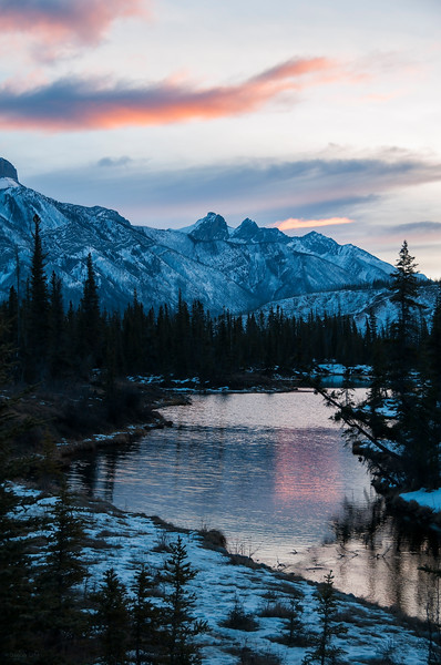 January 18, 2015<br /> <br /> Morning Light<br /> <br /> The Glory Hole<br /> Jasper National Park, Alberta<br /> <br /> * For the month of January I will, once again, be posting images from my annual trips to Jasper in January.