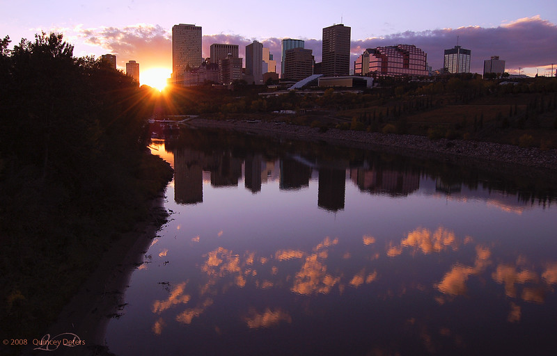 """Day Forty-Two<br /> <br /> """"Sundown in the City""""<br /> <br /> Edmonton, Alberta"""