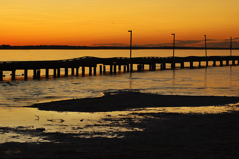 """March 9, 2011<br /> <br /> """"The Pier at Sunset""""<br /> <br /> Alberta Beach<br /> Lac Ste. Anne"""