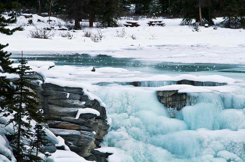 March 13, 2013<br />  <br /> Freezing Falls<br />  <br /> Athabasca Falls<br /> Jasper National Park, Alberta