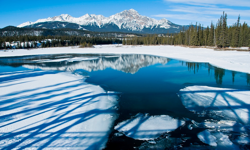December 28, 2012<br />  <br /> Pyramid Mountain<br /> <br /> Athabasca River <br /> Jasper National Park, Alberta<br />  <br /> * We are heading to Jasper tomorrow to bring in the New Year. I go to Jasper annually, in January, to shoot the winter landscapes. The weather looks like it will be milder than it has been so I am looking forward to getting some great winter shots. This image was taken on a day trip to Jasper in February.