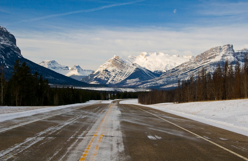 December 12, 2013  Road to the Rockies  Highway 11 / David Thompson Highway  * One of the best parts of going to the mountains is the drive. Every time you turn around another bend it is a sight to see :) LOVE THE ROCKIES!!