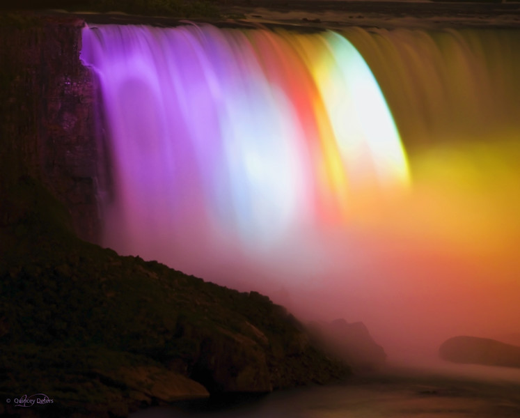 """January 11, 2011<br /> (01/11/11)<br /> <br /> """"Rainbow Mist""""<br /> <br /> Horseshoe Falls, aka the Canadian Falls<br /> Niagara Falls, Ontario<br /> <br /> * I visited Niagara Falls while I was on a field trip with my class from the Niagara School of Imaging (NSI).  I had won a photo contest in Outdoor Photography Canada which included the tuition to attend a class with Mike Grandmaison ( <a href=""""http://www.grandmaison.mb.ca/"""">http://www.grandmaison.mb.ca/</a> ) on the business of nature photography. It was a great experience and the school is fantastic. They offer a great program with 5 days of non-stop photography fun that runs every August. I hope to go back every other year, at the very least  :)  It is the type of program that makes you want to go back every year!<br /> <br /> http://n"""