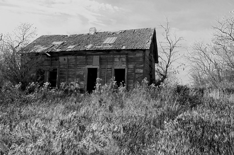 """October 9, 2011  """"House Jack Built""""   Rural Alberta Near Radway, Alberta  * <i>What's In A Name?</i>~ For the month of October I am playing a <i>Name Game</i>. I am challenging myself to use a song title as the image title."""