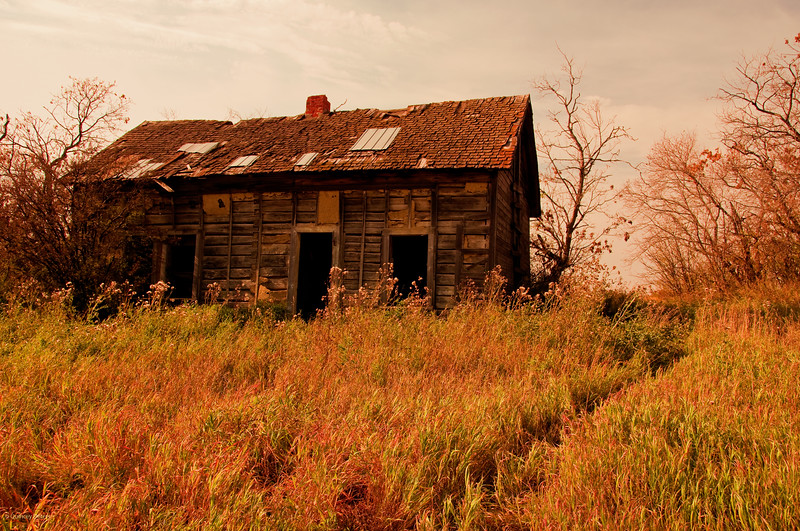 "October 6, 2011  ""This Old House""  Rural Alberta  Near Radway, Alberta  * <i>What's In A Name?</i>~ For the month of October I am playing a <i>Name Game</i>. I am challenging myself to use a song title as the image title."