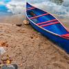 Red & Blue Canoe