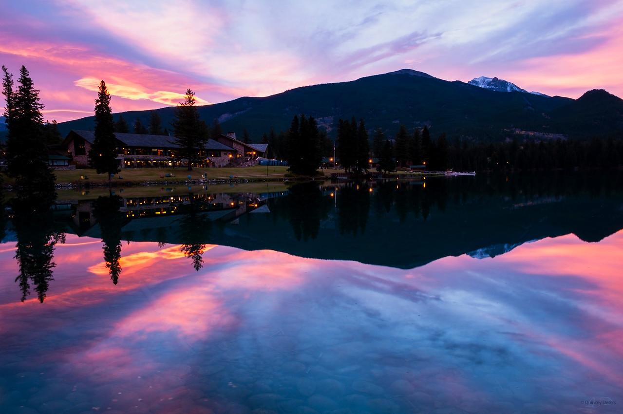 November 15, 2014<br /> <br /> Morning at the Lodge<br /> <br /> Fairmont Jasper Park Lodge<br /> Jasper National Park, Alberta