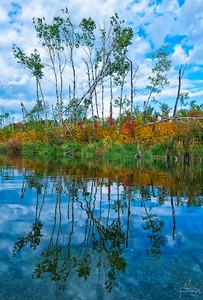 October 28, 2018  Fall Reflection  Buffalo Narrows, Saskatchewan