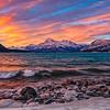 Sunrise at Abraham Lake