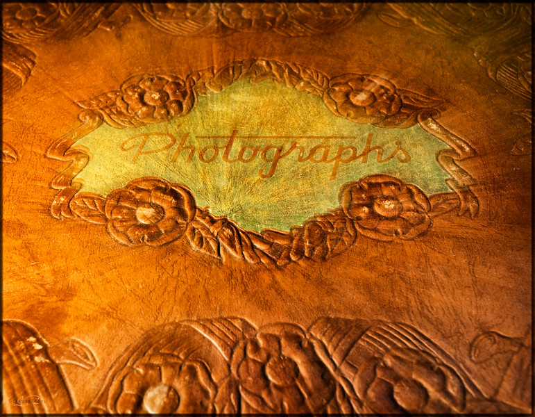 """March 27, 2014<br /> <br /> Family Album<br /> <br /> * I entered this image of an old photo album into our camera club competition tonight. The theme is """"Heritage""""."""
