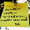 "February 3, 2011<br /> <br /> ""Gung Hay Fat Choy""<br /> <br /> Wish Tree<br /> Edmonton, Alberta<br /> <br /> *  Gung Hay Fat Choy means ""Best wishes and Congratulations. Have a prosperous and good year."" Chinese New Year marks the end of winter and the beginning of spring. 2011 is the Year of the Rabbit. Rabbit years are generally an excellent time for arts, culture, world diplomacy and focusing on the family. Chinese astrologers are projecting ""quiet, positive and inspiring"" things to come along with the Rabbit. One of the Chinese traditions is to hang scrolls or couplets on walls or doorways to carry messages of good health, luck, long life, prosperity, and happiness. This must be exactly what The Wish Tree was made for. I think I will go to The Wish Tree today, I hope it is still there :)<br /> <br /> Here is a clip from a website I found rather interesting:<br /> <br /> Not many people know that the Rabbit is the symbol of the Moon, while the Peacock is the symbol of the Sun, and that together, these two animal signs signify the start of day and night, represent the Yin and Yang of life.  It is said that anyone making supplications for wishes to be fulfilled are certain to get what they want... and in the Year of the Rabbit, the wish-granting aspect of the Sun and the Moon combined is multiplied.  The Moon is YIN and this is the Yin of Heaven, signifying magic.  Thus on each of the Full Moon nights of this year, go out into your garden to gaze into the Full Moon and visualize plenty of Moon dust and Moon glow flowing into you, filling your whole body with bright white light and granting you fearlessness, love and courage.  This will not only strengthen your inner ""Chi"" energy, it will also bring wisdom into your life.<br /> <br /> Wishing you all a great year, filled with dreams come true!!"