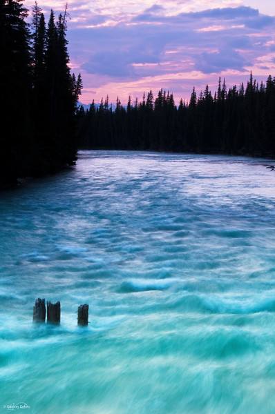 """June 13, 2011<br /> <br /> """"River Wild""""<br /> <br /> Whirlpool River<br /> Jasper National Park, Alberta<br /> <br /> * I took this picture on a recent trip to Jasper. We have had alot of rain and the water levels are high everywhere."""