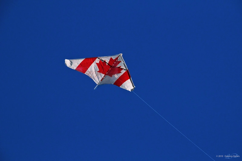 "January 7, 2011<br /> <br /> ""Strong & Free""<br /> <br /> Elk Island Retreat, Alberta<br /> <br /> * My brother came out to visit us at our campsite and took advantage of some of the summer winds that blew in. This is an image of his Canadian trick kite."