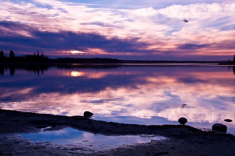 February 9, 2013<br /> <br /> Tranquil Sunset<br /> <br /> Astotin Lake<br /> Elk Island National Park, Alberta