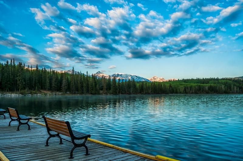 Morning at Pyramid Lake