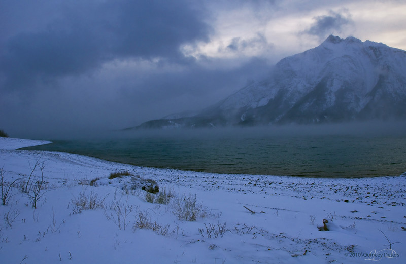 "Day Twenty-Two<br /> <br /> ""C-c-c-c-c-c-c-c-COLD""<br /> <br /> Abraham Lake<br /> Near Nordegg, Alberta"