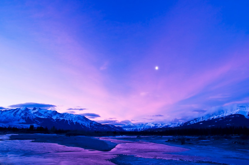 February 1, 2014<br /> <br /> Morning's Reward<br /> <br /> Jasper National Park, Alberta<br /> <br /> * It really does pay to get up and be there when the light begins to dance on the landscape :)