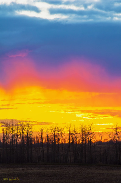 "January 10, 2011<br /> <br /> ""Super Sunset""<br /> <br /> Elk Island Retreat, Alberta"