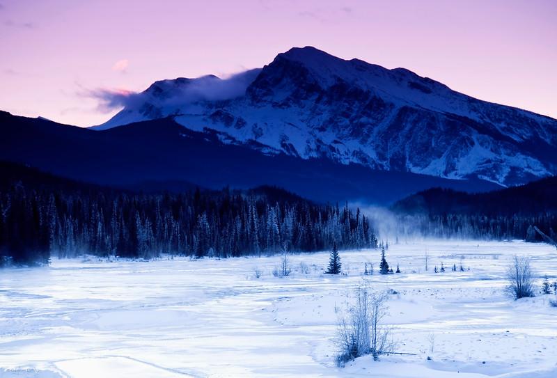 November 6, 2013<br /> <br /> Frosty Morning<br /> <br /> Athabasca River<br /> Jasper National Park, Alberta
