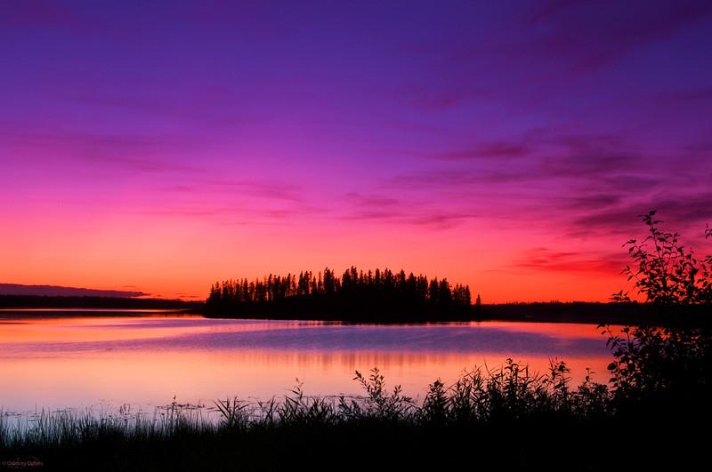 "August 25, 2011<br /> <br /> ""Pink Sky at Night""<br /> <br /> Astotin Lake<br /> Elk Island National Park, Alberta"