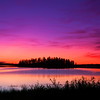 "August 25, 2011<br /> <br /> ""Pink Sky at Night""<br /> <br /> Astotin Lake<br /> Elk Island National Park, Alberta"