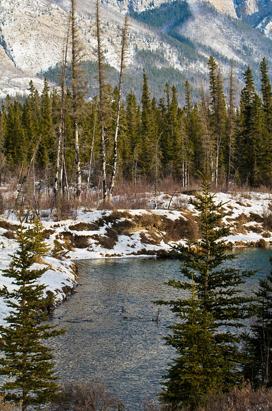 January 17, 2014<br /> <br /> Colour in Winter<br /> <br /> The Glory Hole<br /> Jasper National Park, Alberta<br /> <br /> * Jasper in January<br />  For the month of January, I will be editing images from my annual trips to Jasper in January.
