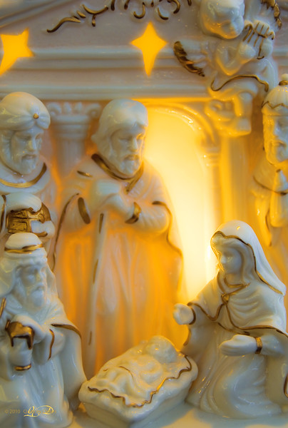 """Day Forty-Seven<br /> <br /> """"Light From Within""""<br /> <br /> Nativity Scene<br /> Images Alberta Camera Club (IACC) Outing<br /> <br /> Our camera club recently went on an outing to a local church where they had over 600 Nativity scenes, from all over the world, set up for public display. We shot for hours!! I look forward to sharing some of those displays with you :)"""