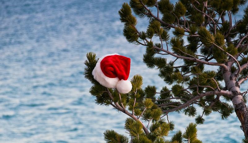 "Dec 14, 2013<br /> <br /> Santa Dip?<br /> <br /> Abraham Lake<br /> Kootenay Plains. Alberta<br /> <br /> * Today begins my ""12 Days of Christmas Challenge"". I will be posting Christmas images for the next twelve days. I hope to create a few Christmas cards for next year, over the next twelve days :)"
