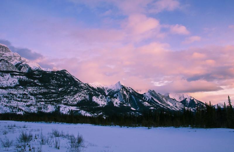"January 27, 2010<br /> <br /> ""Mountain Sunset""<br /> <br /> The Colin Range<br /> Jasper National Park, Alberta"