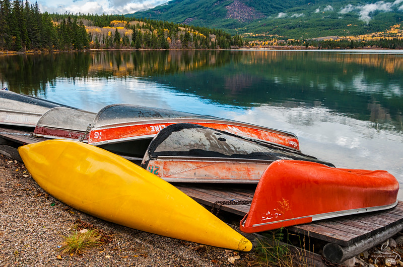 Canoes in Autumn