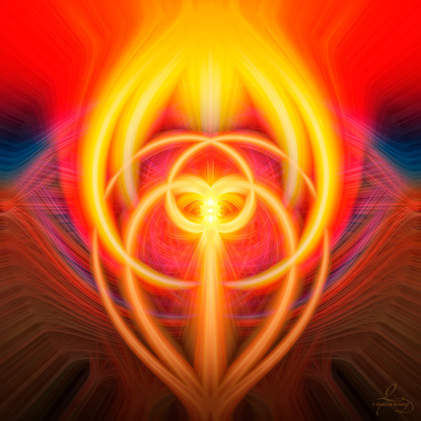 Sunset Twirl Art