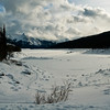 January 14, 2014<br /> <br /> Medicine Lake in Winter<br /> <br /> Jasper National Park, Alberta<br /> <br /> * Jasper in January<br /> For the month of January, I will be editing images from my annual trips to Jasper in January.