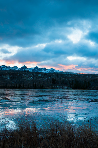 January 25, 2015<br /> <br /> Sunrise Glow<br /> <br /> Talbot Lake & Miette Range<br /> Jasper National Park, Alberta<br /> <br /> J in J 2015 - I was shocked to wake up to 7 degrees Celsius at 7 am! The mild temperatures and rain created a whole new Jasper in January :))) Usually the lakes are frozen and covered in snow; but this year they are wet and creating some great reflections!!<br /> <br /> * For the month of January I will, once again, be posting images from my annual trips to Jasper in January.