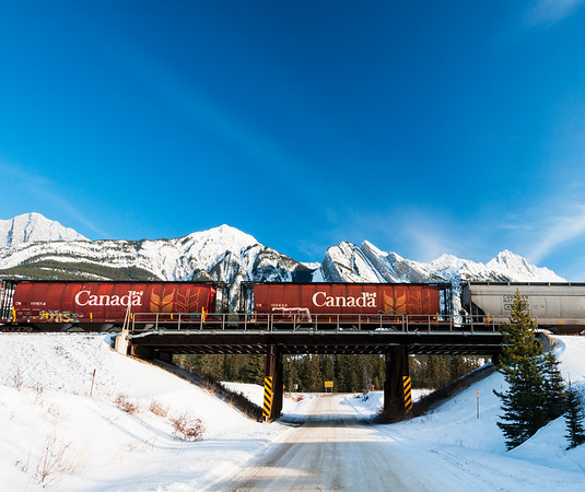 January 15, 2015  CN Railway  Jasper National Park, Alberta  * For the month of January I will, once again, be posting images from my annual trips to Jasper in January.