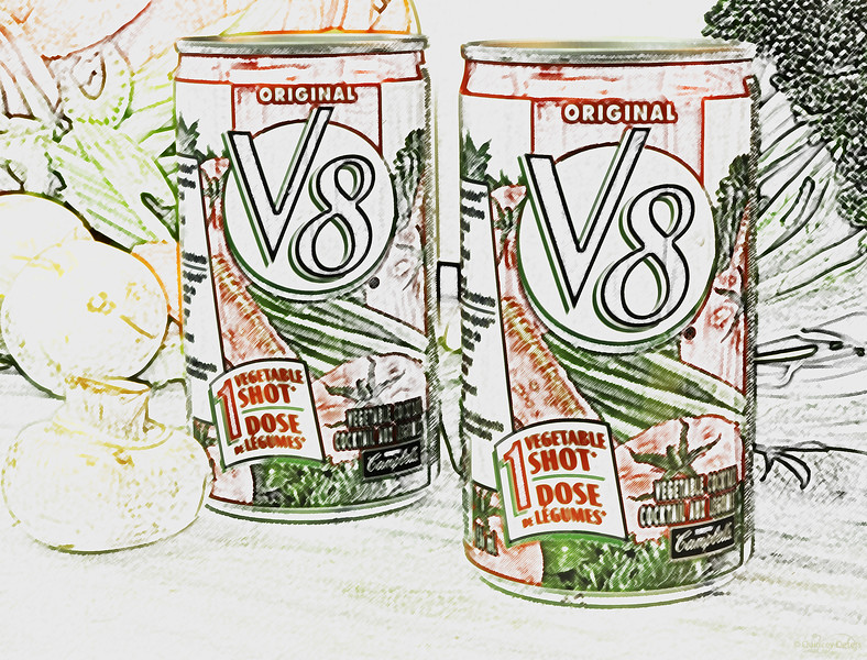 """December 8, 2013  <I>Could've had a V8</I>  * My contribution to the Alphabet Challenge for the letter """"V"""" :)"""