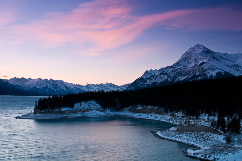 December 27, 2013<br /> <br /> Magical Morning<br /> <br /> Abraham Lake<br /> Kootenay Plains, Alberta<br /> <br /> * This image was taken from one of the magnificent viewpoints at Aurum Lodge. I am sure I could spend a lot of time there, finding myself :)