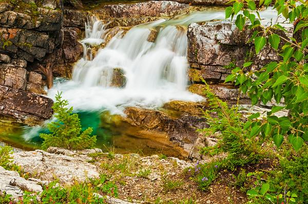 Waterfall in Waterton