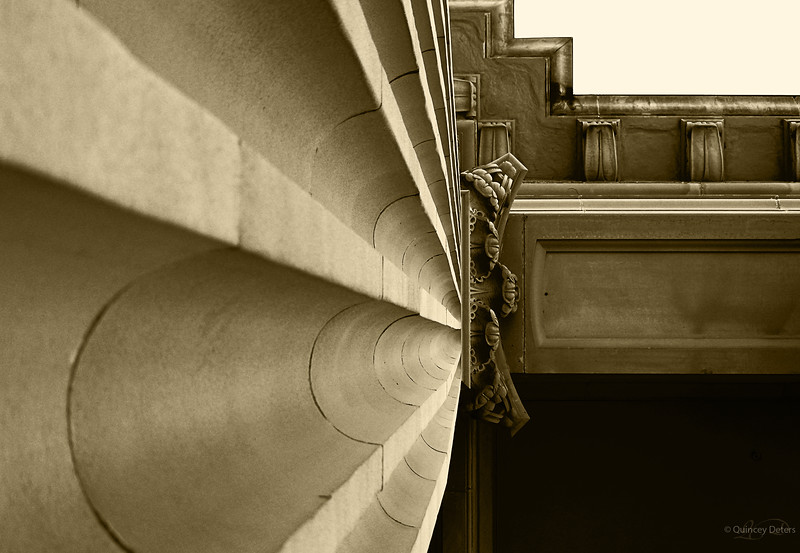 """April 18, 2011<br /> <br /> """"Structure""""<br /> <br /> Alberta Legislature Building<br /> Edmonton, Alberta<br /> <br /> * This is an image of the building's sandstone pillars that I used for a """"Converging Lines"""" competition."""